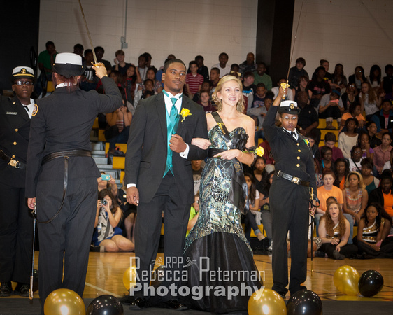 Rebecca Peterman Photography Senior Reps, Terance Dixon and Emily Carter, were paired during the presentation of the Homecoming Court.