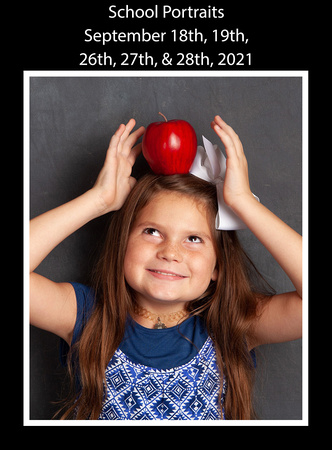 studio set for back to school pictures