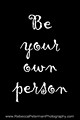 Be your own person graphic