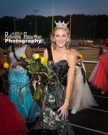 The excitement is evident on this Homecoming Queen's face moment's after she is crowned.